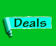 Deals Word Shows Online Offers Bargains And Promotions Stock Photos