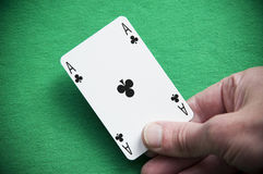 Dealt and Ace Royalty Free Stock Photos