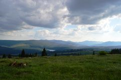 Dealu Botii. Near Cluj, is a village named Dealu Botii. It has a awsome view over the Belis lake Stock Images