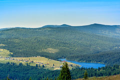 Dealu Botii. A view above Dealu Botii village, situated at the end of the Belis lake, in Cluj county, Romania Royalty Free Stock Images