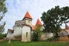 Dealul Frumos筑了堡垒于教会-锡比乌,罗马尼亚 免版税图库摄影