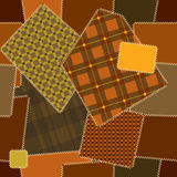 Deamless pattern of quilt patchwork. Seamless background pattern. Will tile endlessly Stock Image