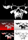 Deamon Skull. Illustration for tattoo or other designs Royalty Free Stock Photo