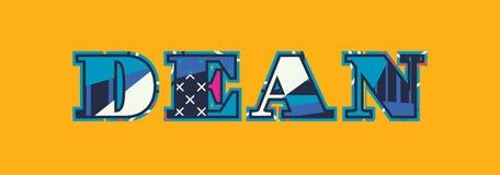 Dean Concept Word Art Illustration Στοκ εικόνες με δικαίωμα ελεύθερης χρήσης