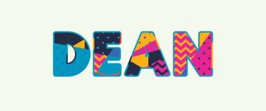 Dean Concept Word Art Illustration ελεύθερη απεικόνιση δικαιώματος