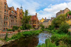 Dean Village in Edinburgh, Schotland royalty-vrije stock fotografie
