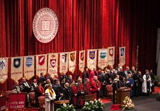 Deans of the colleges of Indiana University. Deans of the various colleges prepare to  award the students and graduates of 2013 their hard earned diplomas on May Stock Photo