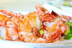 Deap fritou camarões Foto de Stock Royalty Free