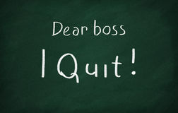 Dear boss, i quit! Stock Photo