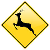 Dear crossing warning. Sign with glossy effect Royalty Free Stock Photography
