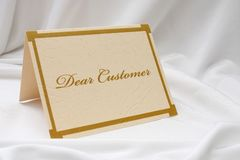 Dear customer Royalty Free Stock Image