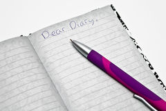 Dear Diary Royalty Free Stock Photo