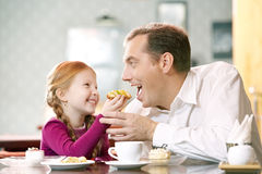 Dear father with girl Royalty Free Stock Photo