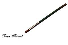 Dear friend - dipper style ink pen Royalty Free Stock Photography