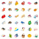 Dear icons set, isometric style. Dear icons set. Isometric style of 36 dear vector icons for web isolated on white background Stock Image