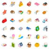 Dear icons set, isometric style Stock Image