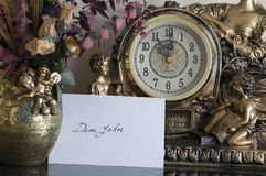 Dear John letter. A dear John letter on the hall table waiting to be opened royalty free stock photography