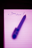 Dear Love - Notepad Royalty Free Stock Photos