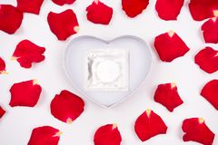 Dear love, roses, special occasions, along with condoms, background. Dear love roses special occasions along with condoms background stock image
