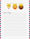 Dear Magi letterhead Stock Image