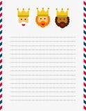 Dear Magi letterhead illustration  Royalty Free Stock Images