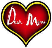 Dear Mom stock images