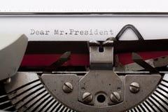 Dear Mr.President Stock Image