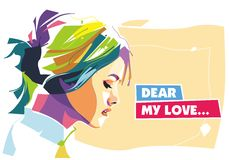 Dear my love. Check out this colorful portrait of dear my love! A very good example of the geometric style, this new and free dear my love is available for Stock Photos