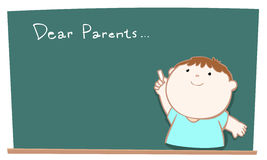 Dear parents blackboard illustration Royalty Free Stock Photography