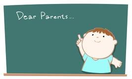Dear parents blackboard illustration Royalty Free Stock Photography