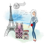 Dear Paris Post Card Royalty Free Stock Photography