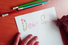 Dear santa Stock Photos