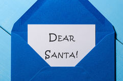 Dear Santa... Beginning letter with wish to S. Claus. Eve, Christmas and New year concept. Dear Santa... Beginning letter with wish to Santa Claus. Eve Stock Images
