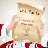 Dear Santa I behaved well whole year - letter Stock Photos