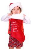 Dear Santa, I've been good. Royalty Free Stock Photography