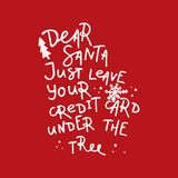 Dear Santa, let me explain. Hand-lettering quote, Christmas calligraphy for letters to Santa Claus or greeting cards Royalty Free Stock Image