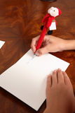 Dear Santa letter Stock Photo