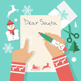 Dear Santa letter. Royalty Free Stock Photos