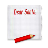 Dear Santa Royalty Free Stock Images