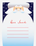 Dear Santa text for letter Royalty Free Stock Images