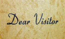 Dear Visitor Stock Images