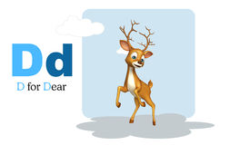 Dear  wild animal with alphabate Stock Photography