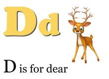 Dear  wild animal with alphabate Royalty Free Stock Photos