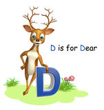 Dear  wild animal with alphabate Stock Image