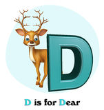 Dear  wild animal with alphabate Royalty Free Stock Photo