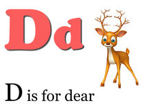 Dear  wild animal with alphabate Stock Images