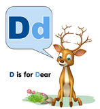 Dear  wild animal with alphabate Royalty Free Stock Photography