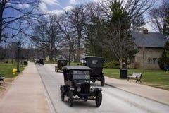 Dearborn MI, usa,/- 04 21 2018: jechać Ford t modelów na ulicie w greenfield wiosce fotografia stock