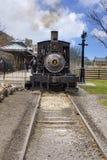 Dearborn MI, usa,/- 04 21 2018: Parowa lokomotywa przy Greenfield wioską która oryginalnie rozwijał Henry Ford fotografia stock