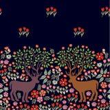 Dears de floraison pendant la nuit Photographie stock libre de droits